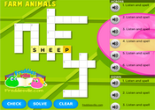 Farm Animals Crossword Puzzle Online