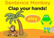 Classroom Commands Sentence Monkey Game