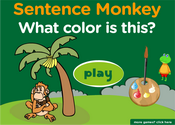Colors Sentence Monkey Game