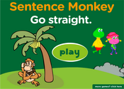 Giving Directions Sentence Monkey Game