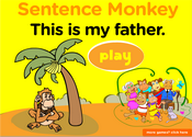Family Members Sentence Monkey Game