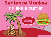 Food Sentence Monkey Game