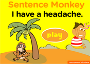 Health & illness Sentence Monkey Game