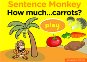 Vegetables Sentence Monkey Game