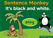 Zoo Animals Sentence Monkey Game