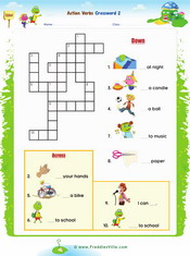 Action verbs Crossword 2