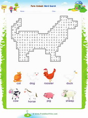 Farm Animals Word search