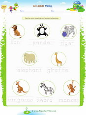 Zoo Animals Word Search