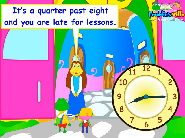 telling time quarter past