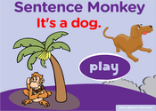 Farm Animals Sentence Monkey Game