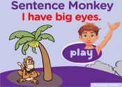 Body Parts Sentence Monkey Game