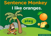 Fruits Sentence Monkey Game