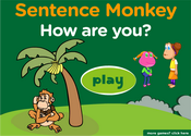How are you: Greetings Expressions Sentence Monkey Game