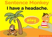 Health & illness Sentence Monkey Game