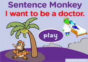Jobs, Occupations Sentence Monkey Game