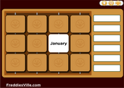 Months of the Year Vocabulary Memory Game