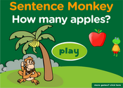 How Many: Numbers Sentence Monkey Game