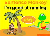Sports Lesson Sentence Monkey Game