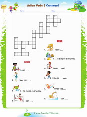 Action verbs Crossword 1