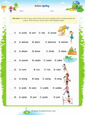 Action Verbs Word Search