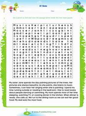 Action verbs Text Maze