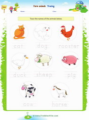 Farm Animals Tracing/Writing