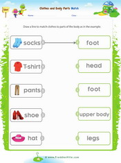 Clothes to Body Parts Matching Exercise