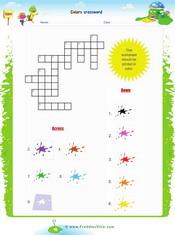 Colors Crossword Puzzle Worskheet