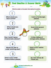 Food, Q & A Worksheets