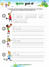 Sports Sentence Writing Worksheet