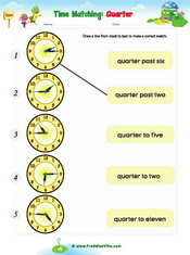 Telling Time – Quarter to/Quarter Past
