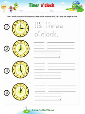 Time Sentences – o'clock
