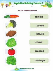 Vegetable Matching Exercise2