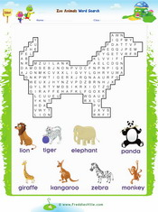 Zoo Animals Tracing/Writing Worksheet